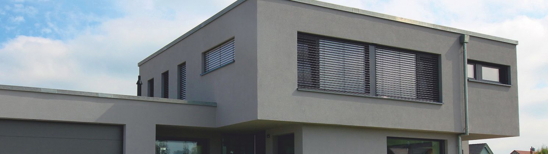 Haus mit Fachdach, Dachbau